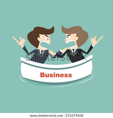 opposites business on risk - stock vector