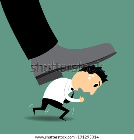 oppression - stock vector
