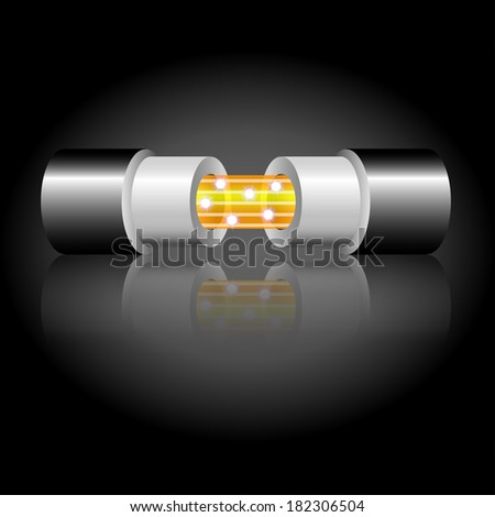 optic fiber cable - stock vector