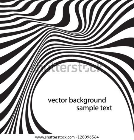 optical effect - stock vector