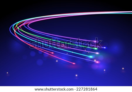 Optical Fibers.vector - stock vector