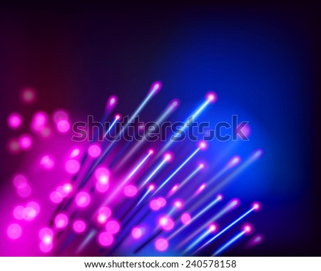 Optical fibres. Vector illustration. - stock vector