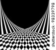 Optical illusion. Abstract background in op art style. Vector illustration. - stock photo