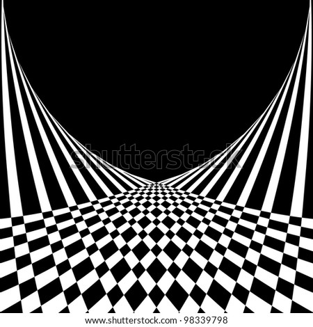 Optical illusion. Abstract background in op art style. Vector illustration. - stock vector