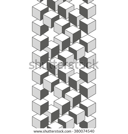 Optical illusion, abstract geometric design element. Printoptical illusion symbols, Impossible sign. Monochrome vector design - stock vector