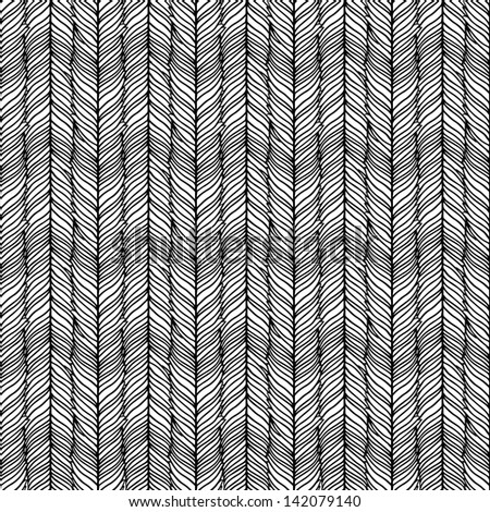 Optical illusion: Black and white abstract seamless pattern - stock vector