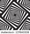 Optical illusion black and white.ai - stock vector