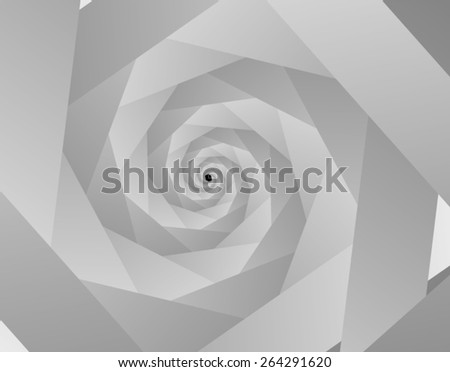 Optical illusion: grey spiral, leading into the distance. - stock vector