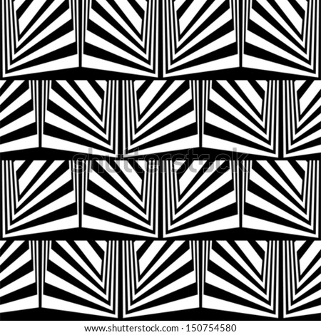 Optical illusion in black and white - stock vector