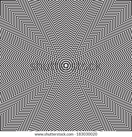 Optical illusion of rotation movement. Abstract op art background. Vector art. - stock vector