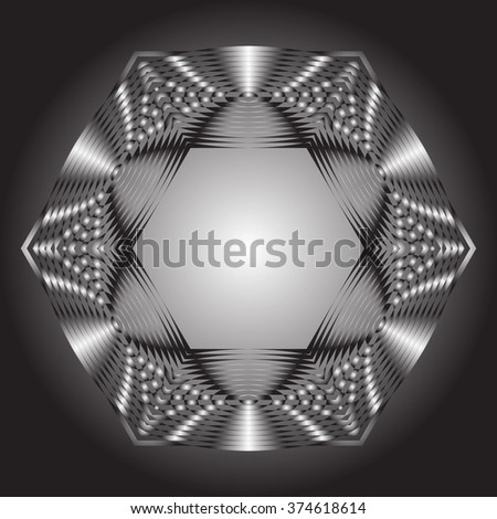 Optical illusion of the gradient vector, abstract geometric design element. Impossible geometrical figure. - stock vector