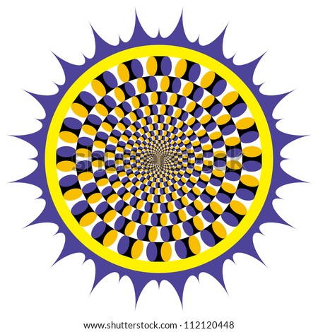 Optical illusion Spin Cycle - stock vector