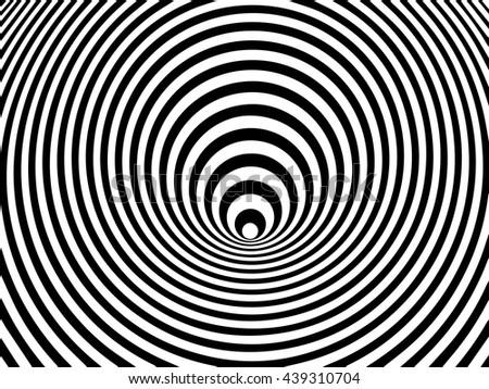 Optical illusion swirl, vector - stock vector