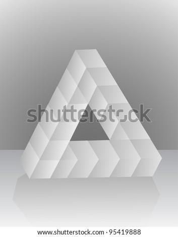 Optical Illusion Triangle - stock vector