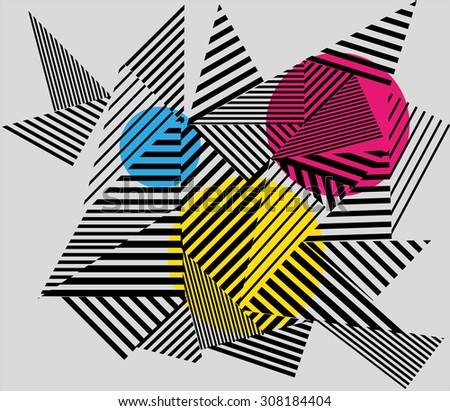 optical illusion triangle pattern. seamless vector background. - stock vector