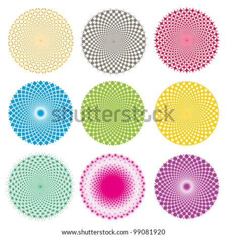 Optical illusion (Vector) - stock vector