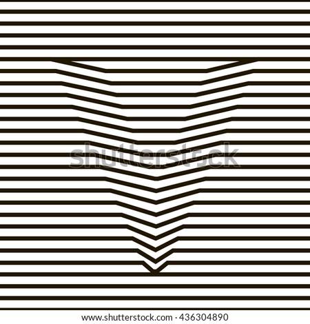 optical illusion. Vector illustration - stock vector