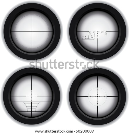 Optical sniper sight - stock vector