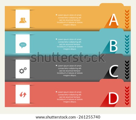 Option banners / Retro colors design/ Can be used for infographic/ Vector eps10 - stock vector