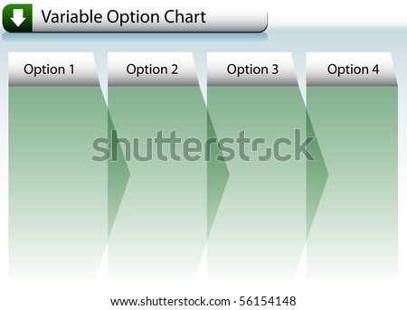 Option Chart - stock vector
