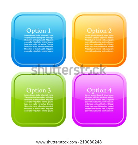 Options info buttons