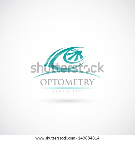 Optometry sign - vector illustration - stock vector