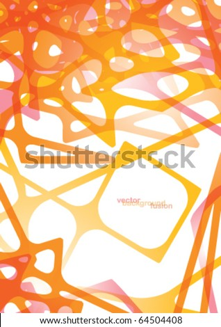 Orange abstract background fusion - stock vector