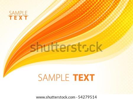 Orange abstract background. Vector - stock vector