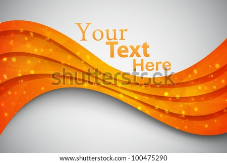 orange abstract card. vector illustration - stock vector