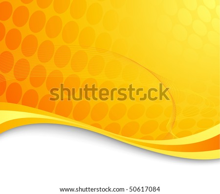 Orange abstract hi-tech background. Vector illustration - stock vector