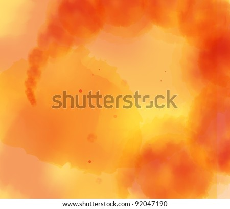 Orange abstract light background vector - stock vector