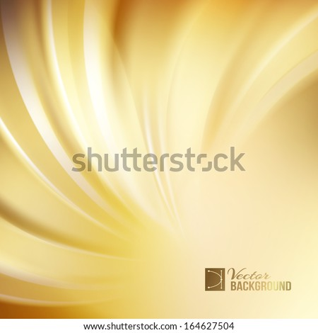Orange abstract swirl. Vector illustration - stock vector