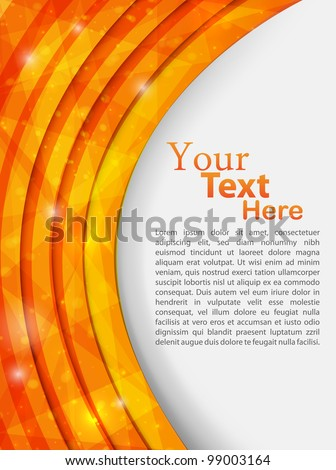 orange abstract template. vector illustration - stock vector