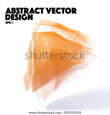 Orange Abstract Vector Design Element - stock vector