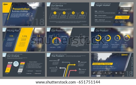 Orange and grey elements for infographics on a dark background. Presentation templates. Use in presentation, flyer and leaflet, corporate report, marketing, advertising, annual report, banner.