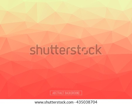 Orange and red polygon pattern. hexagon background. triangle background, Design element. Sunset crystal abstract background. - stock vector