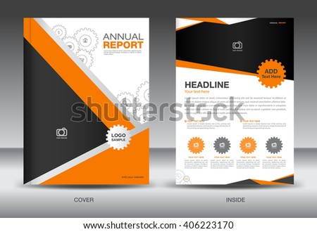 Orange Annual report template,cover template,brochure fl yer,info graphics elements,Layout template design - stock vector