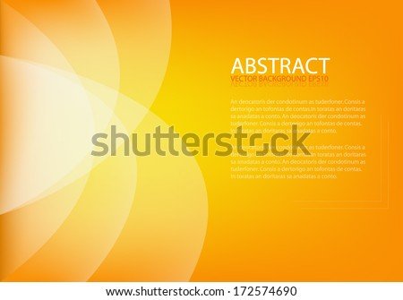 Orange background vector art background abstract eps10 frame curve line for text and message design - stock vector