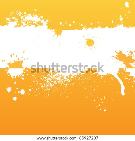 Orange background with blots and place for text - stock vector