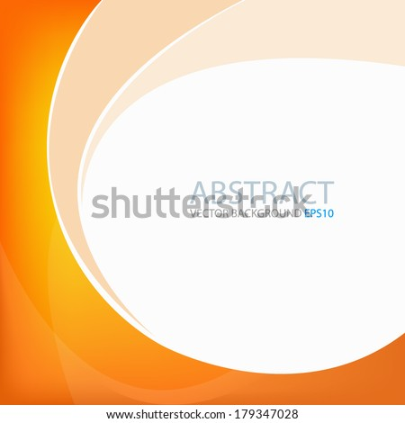 Orange background yellow graphic circle curve line for text and message modern web design - stock vector