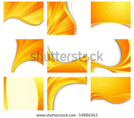 Orange backgrounds collection part two. Vector illustration - stock vector