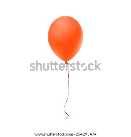 Orange balloon icon isolated on white background. Vector illustration - stock vector