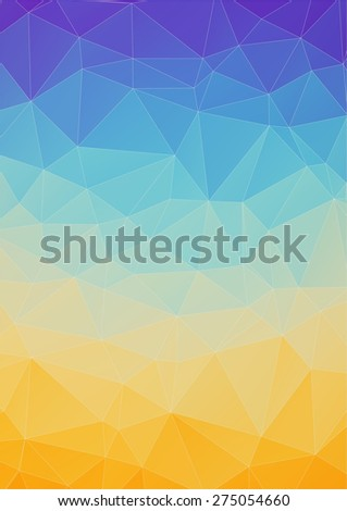 Orange blue abstract polygonal background for your web design - stock vector