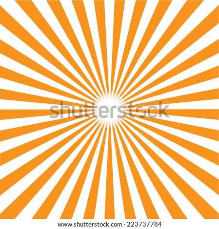 orange burst background. Vector/illustration . - stock vector