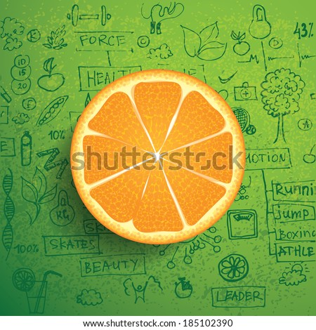Orange business and healthy infographics - stock vector