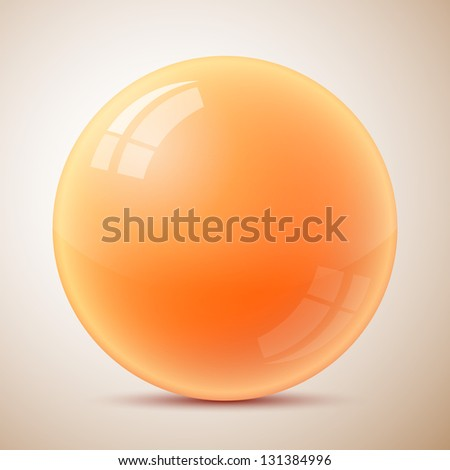 Orange caviar isolated