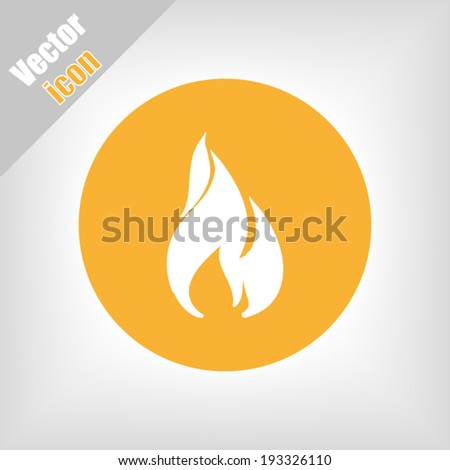 orange circle icon vector - stock vector
