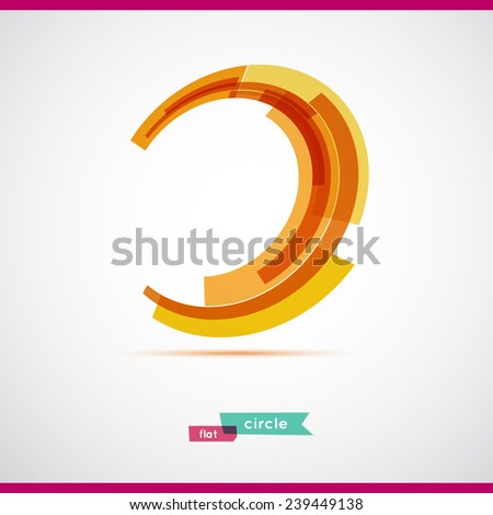Orange circle. Vector illustration. Business Abstract Circle icon. Corporate, Media, Technology styles vector logo design template. - stock vector