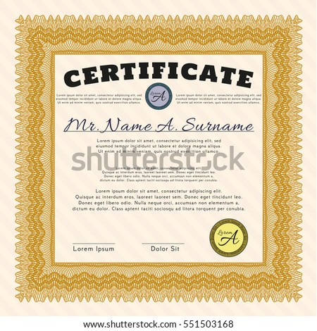 Certificate Completion Template Guilloche Pattern Watermarks – Money Certificate Template