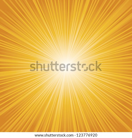 orange color burst. Vector. - stock vector